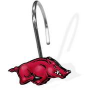 NCAA University of Arkansas Shower Hooks, 12 Piece