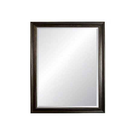 27 x 39 in. Savannah Beveled Framed Wall Mirror, Brushed White - image 1 of 1