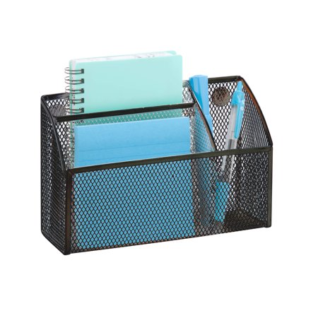Saver Desktop Organizer (Honey Can Do eXcessory Mesh Magnetic File & Pencil Organizer, Multicolor )