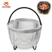 Steamer Basket for Instant Pot Accessories 6qt or 8qt - AUCHEN Stainless Steel Steam Insert with Premium Silicone Handle for Electric Pressure Cookers – Suitable for Vegetables, Eggs, Meats, etc