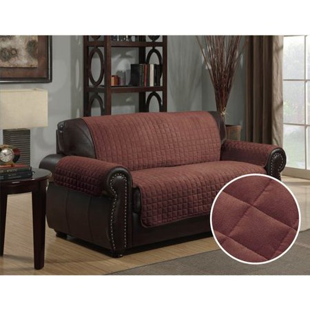 Kashi Home Microsuede Box Cushion Loveseat Slipcover