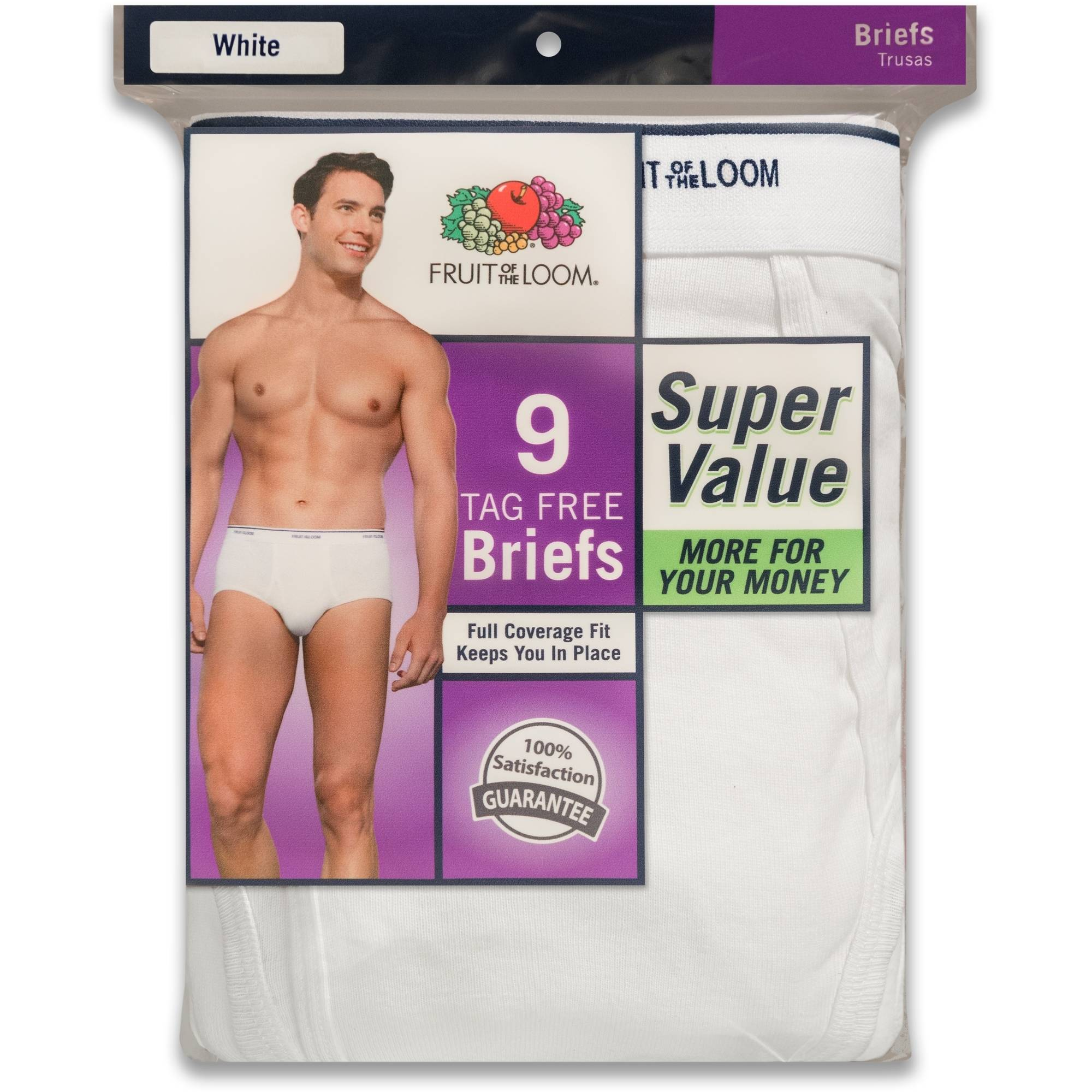 Fruit of the Loom Men's Super Value Classic White Brief, 9 Pack by Fruit of the Loom