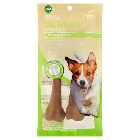 N-Bone The Original Chicken Flavor Chew Bone for Dogs Small 5-15 lb, 1.4 (10 Lb Flavor Tabs)