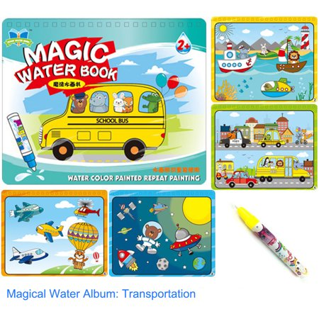 Kindergarten Halloween Paper Crafts (Children Kid Educational Toys Magic Water Drawing Book Album Magic Graffiti Baby Painting Kindergarten Scene Facsimile Coloring)