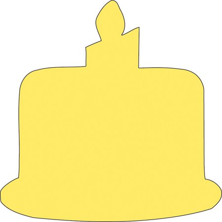 Sticky Shape Notepad - Birthday Cake