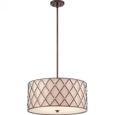 Quoizel Brown Lattice Pendant with 4 Lights in Copper Canyon - image 1 de 1
