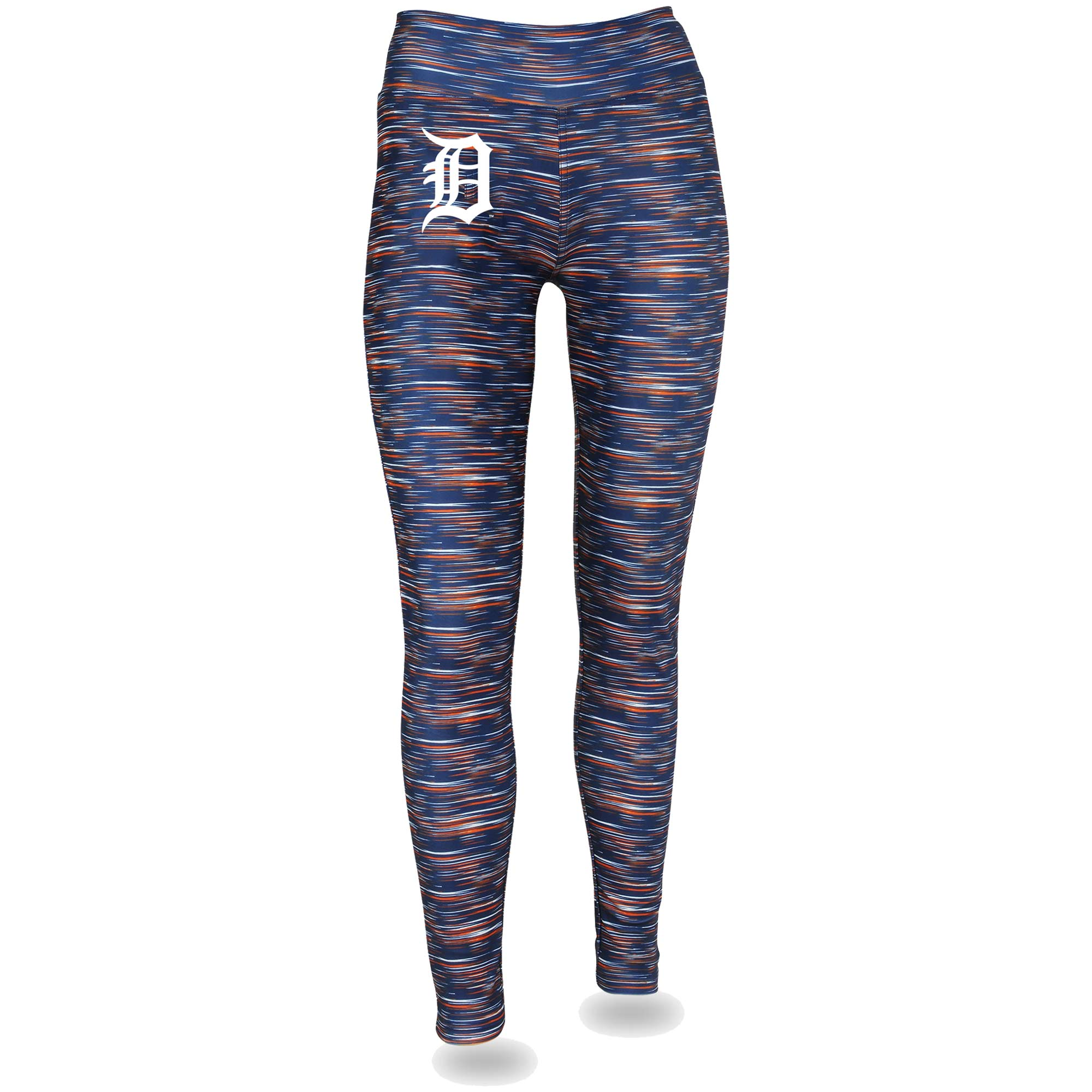 Women's Navy/Orange Detroit Tigers Space Dye Leggings