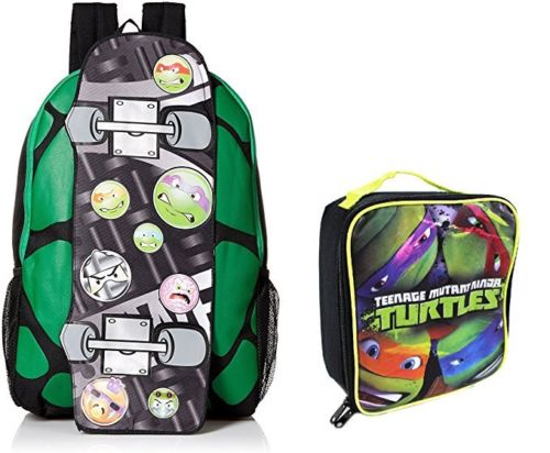 "Ninja Turtles 17"" Canvas Big Boys Skateboard School Backpack With Lunch Bag Set� by"