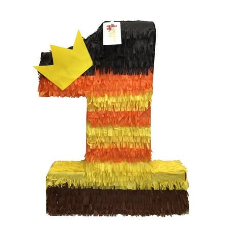 APINATA4U Fall Theme Number One Pinata with Yellow Crown