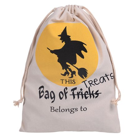 Justdolife Halloween Gift Bag Drawstring Canvas Trick or Treat Bag Jewelry Candy Bag Halloween Party Favor Supplies Decoration Gifts for Kids Child (Halloween Gift Bags)