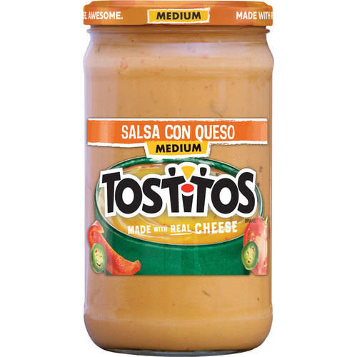 Tostitos Brand Dips & Salsas Medium Salsa Con Queso, 23 oz