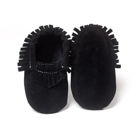 Kids Baby Shoes PU Suede Leather Newborn Boys Girls Soft Shoes Fringe Soft Soled Non-slip Footwear Crib First Walkers Bark Suede Footwear