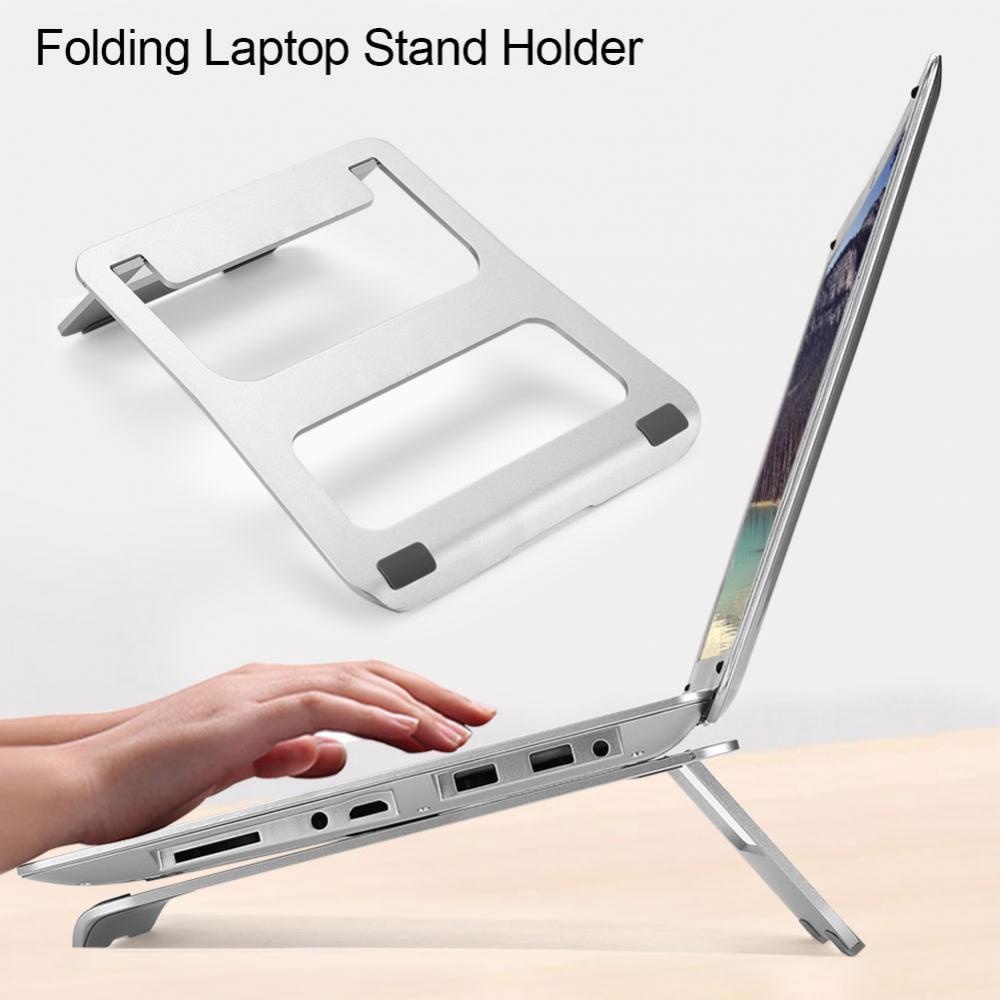 Adjustable Aluminium Alloy Laptop Stand Desk,Foldable Light-Weight Ergonomic Desktop Stand Holder Mount for MacBook Notebook Computer PC iPad Tablet