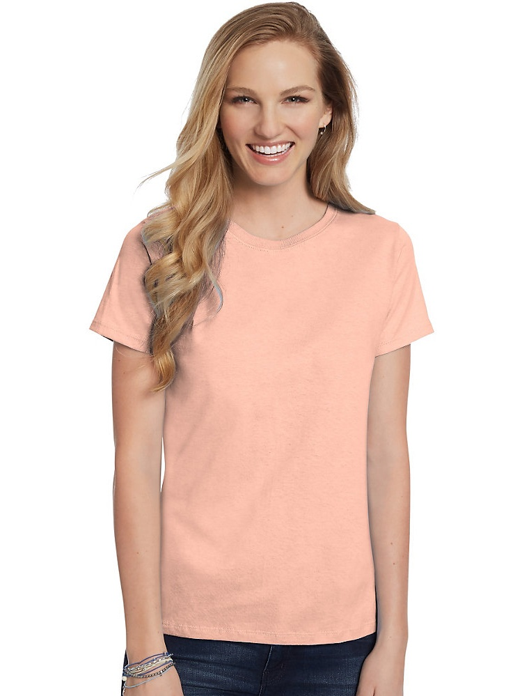 Hanes Women's Relaxed Fit Jersey ComfortSoft Crewneck T-Shirt, Style 5680