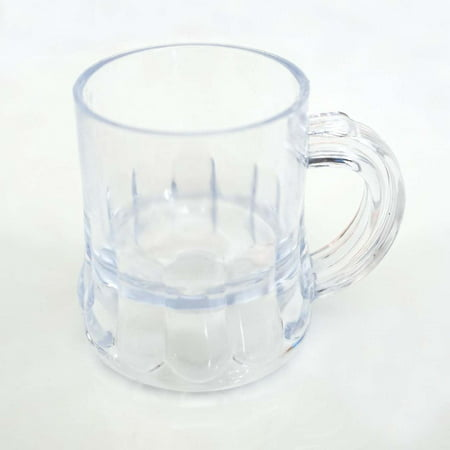 8 Mini Clear Beer Mugs Wedding Favor Plastic Shot Glass Beer Fest Oktoberfest Pub Accessories