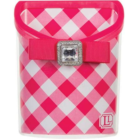 Pink Locker Room - Darice LockerLookz Magnetic Locker Bin, Pink Gingham