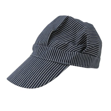 Blue Striped Railroad Engineer Cap Railfan Hobby Hat RR Costume Accessory](Thomas The Train Engineer Hat)