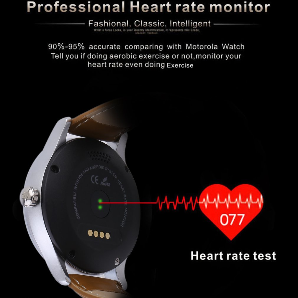 smartwatch for men Water Resistant Smartwatch Round Bluetooth Watch With Heart Rate Monitor
