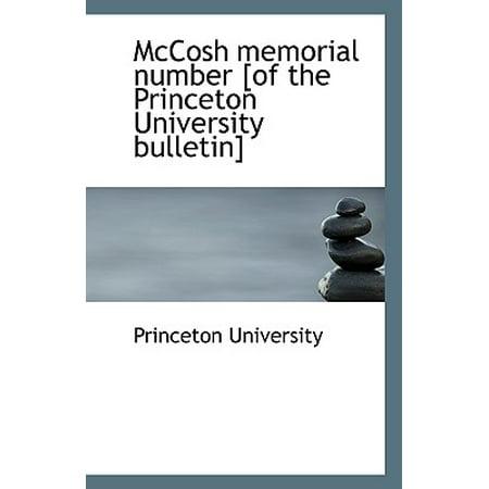McCosh Memorial Number [Of the Princeton University Bulletin] (Princeton University Halloween Party)