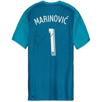 Stefan Marinovic Vancouver Whitecaps FC Autographed Match-Used Blue #1 Jersey from the 2018 MLS Season - Fanatics Authentic Certified