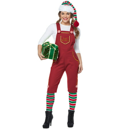 Santa's Workshop Elf Adult Costume - M & M Costumes For Adults
