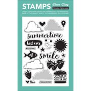 """Summertime Clear Cling Stamps 4""""x6""""-"""