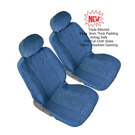 Lexus Es300 Set - Comfort All Weather Triple Stitched Thick Padded Front 2 Low Back Universal Fit Seat Cover Pair
