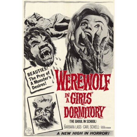 Werewolf in a Girls Dormitory Movie Poster Print (27 x 40)