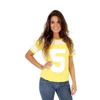 Toddlers Teenage Mutant Ninja Turtles April O' Neil 5 Yellow Costume T-shirt