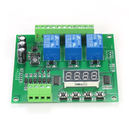 Programmable 3-Channel LED Relay Module DC/AC7V~36V Motor Driver Controller for Arduino Raspberry Pi - image 4 de 7