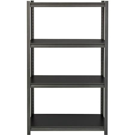 Lorell, LLR59700, 3,200 lb Capacity Riveted Steel Shelving, 1 Each, Black