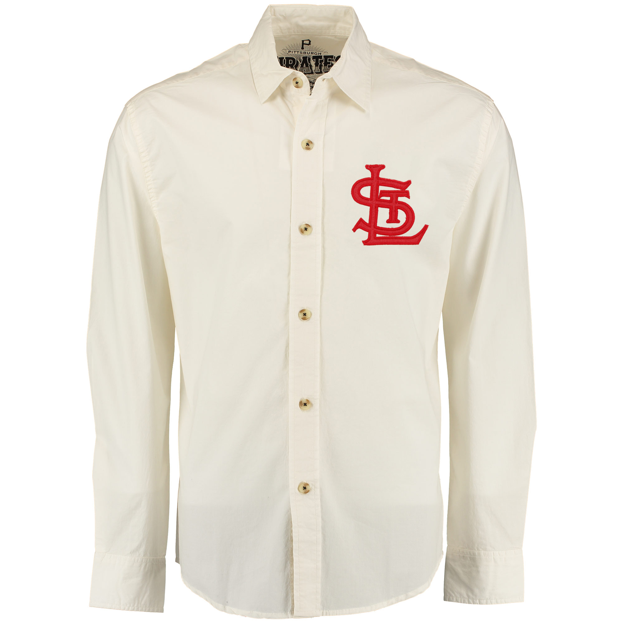 St. Louis Cardinals Red Jacket Knickerbocker Woven Long Sleeve Button-Up Shirt - Natural
