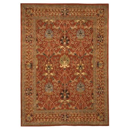 EORC Hand-tufted Wool Rust Traditional Oriental Morris Rug ()