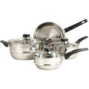 Gibson Sunbeam Ridgeline 7-Piece Cookware Set, Stainless Steel