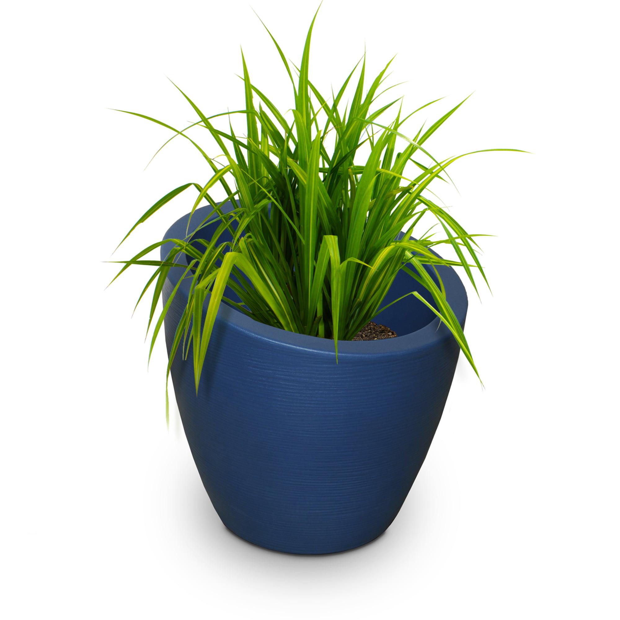 Modesto 20in Round Planter - Neptune Blue