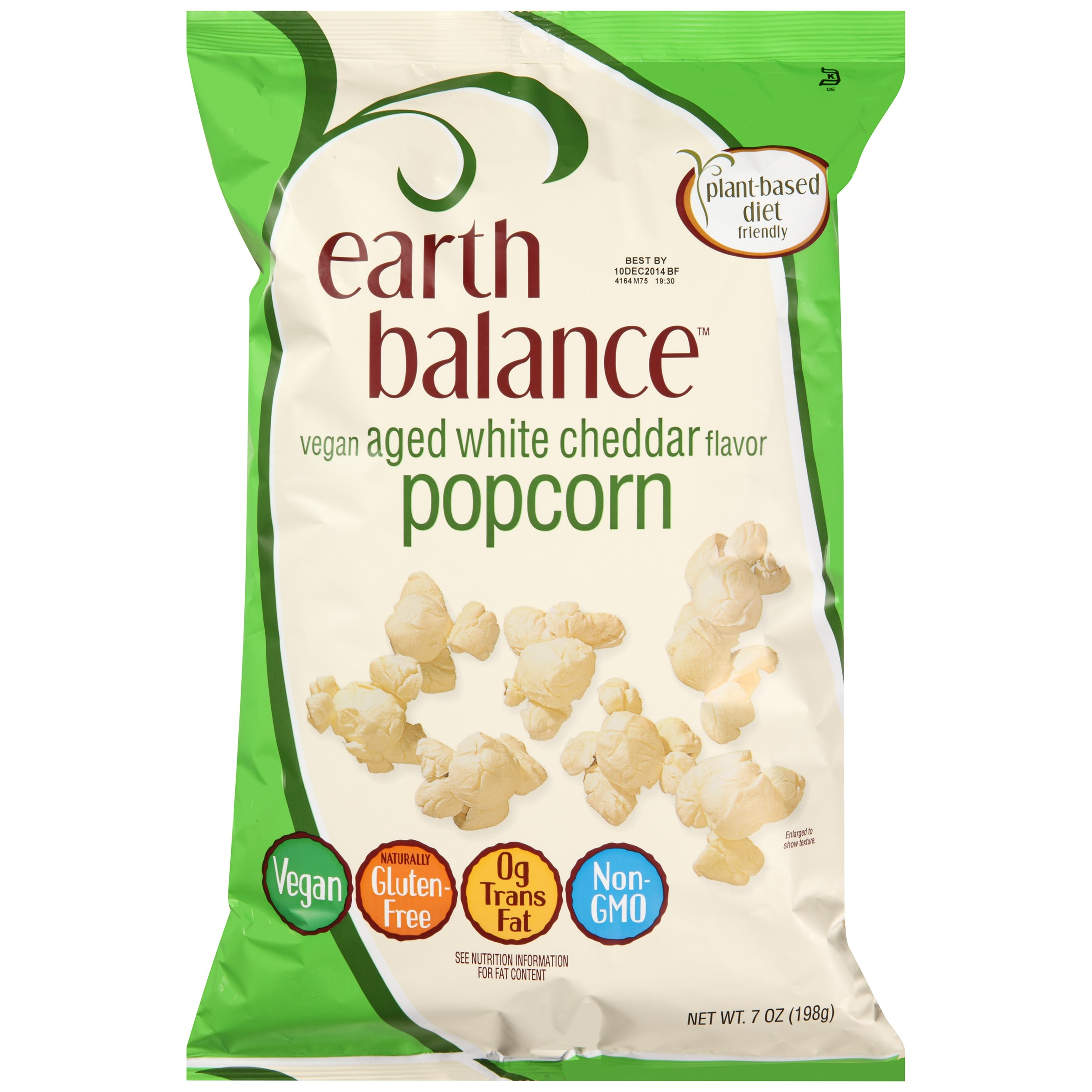 Earth Balance White Cheddar Popcorn, 7 Oz