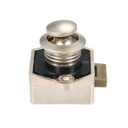 Car Push Lock Diameter 20mm RV Caravan Boat Motor Door Locking Home Cupboard Cabinet Drawer Button Locks For Furniture Hardware (Champagne) - image 2 of 7