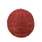 """Northlight 5.5"""" Worn Basket Weave String Ball Christmas Ornament - Red"""