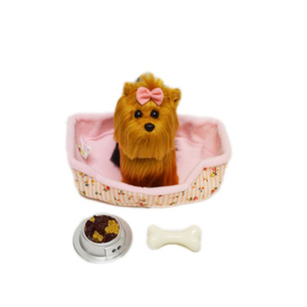 My Yorkie Puppy With Ped Bed And Accessories For American Girl Dolls Walmart Com Walmart Com