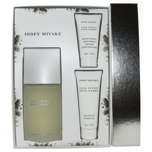 L'eau D'issey Set-Edt Spray 4.2 Oz & After Shave Balm 1.6 Oz & Shower