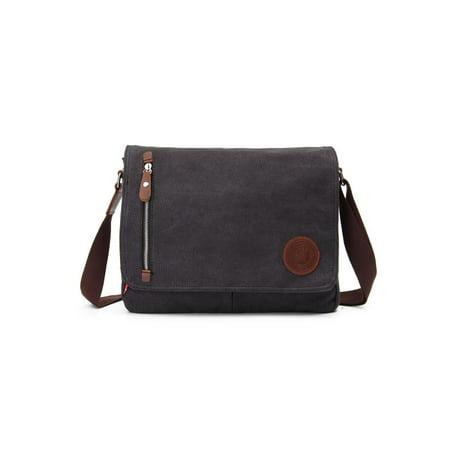 Men Vintage Canvas Messenger Shoulder Bag Crossbody Sling School Bags Satchel (Coffee, Black) - Walmart.com