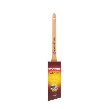 4230-1-1/2 Alpha Thin Angle Sash Paintbrush, 1-1/2-Inch, Unique synthetic blend featuring Micro Tip filaments for the finest finish with all paints By Wooster Brush