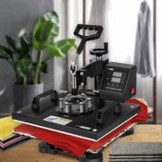 5 in 1 Swing Away Clamshell Printing Heat Press Machine for T-Shirt Hat Cap Mug Plate 15 x 12 Inch