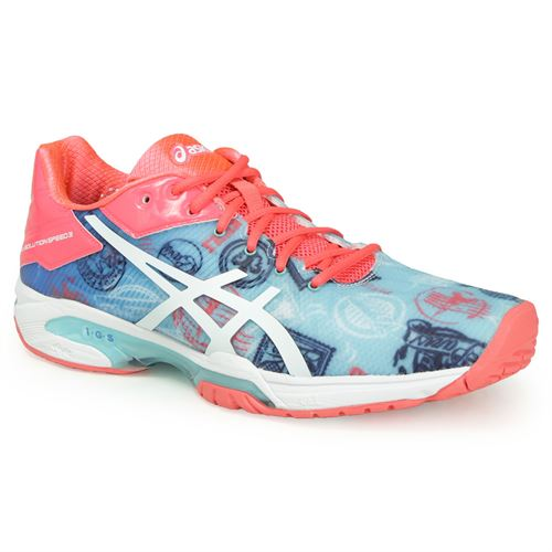 Asics Gel Solution Speed 3 Limited Edition Paris Womens Tennis Shoe Size: 5.5