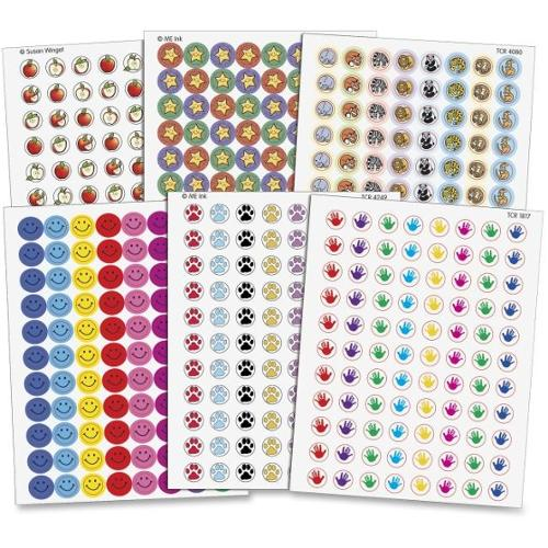 Teacher Created Resources Mini Stickers Variety Pack - Assorted