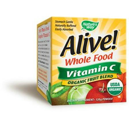 Alive Organic Vitamin C Natures Way 120 G Powder