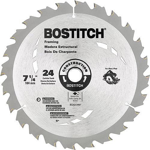 "Bostitch 7 1/4"" 24T Circular Saw Blade, BSA3124M"