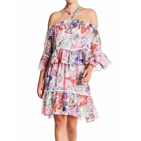 Rachel Roy NEW Pink Womens Size 12 Sheath Tiered Floral Print Dress
