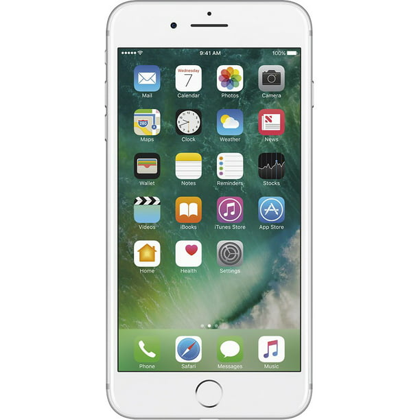 Apple iPhone 7 Plus, GSM Unlocked 4G LTE- Silver, 256GB (Certified Refurbished)