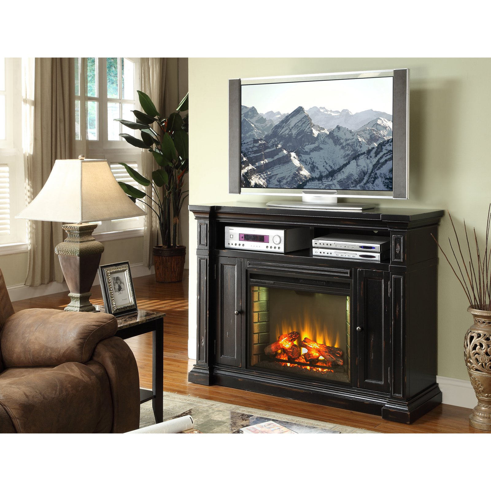 Legends Furniture Manchester 58 in. Electric Media Fireplace